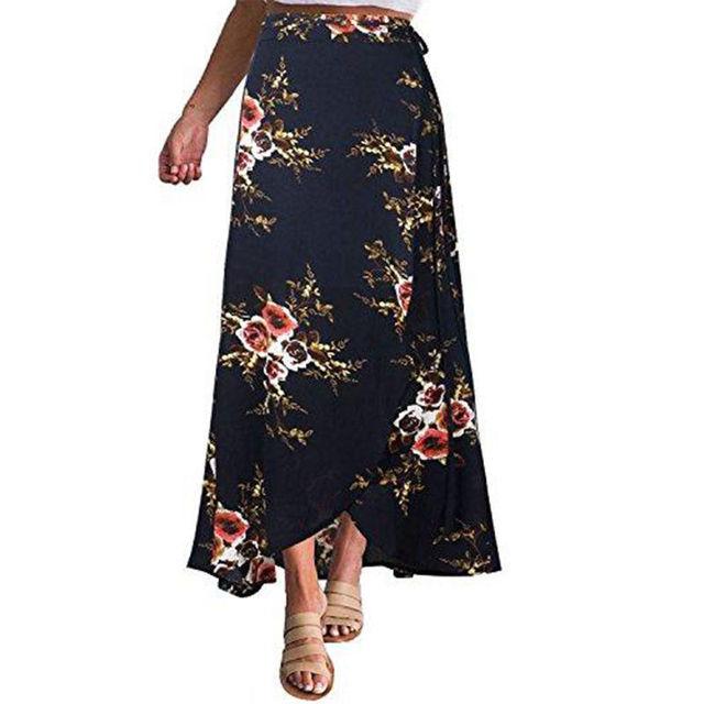 Floral Long Boho Maxi Skirt