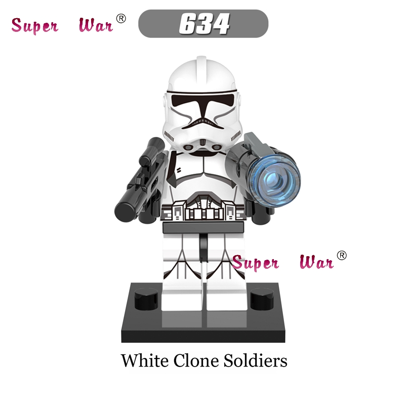 20pcs star wars superhero marvel dc white Clone TROOPER building blocks bricks models classic learning education MCU baby toys
