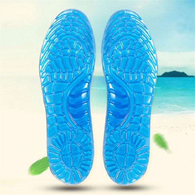 500pairs/lot Gel Sports Insoles Women Men Shoes Pad Orthopedic Massage Damping Deodorant Comfortable Silicone Insole 2017 new gel orthopedic insoles massage