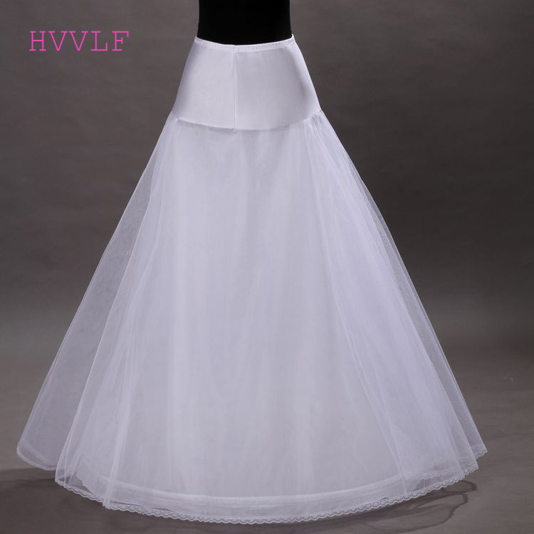 New Arrivals Tulle A-line Lace Edge Wedding Petticoat Floor Length Bridal Petticoats 2019