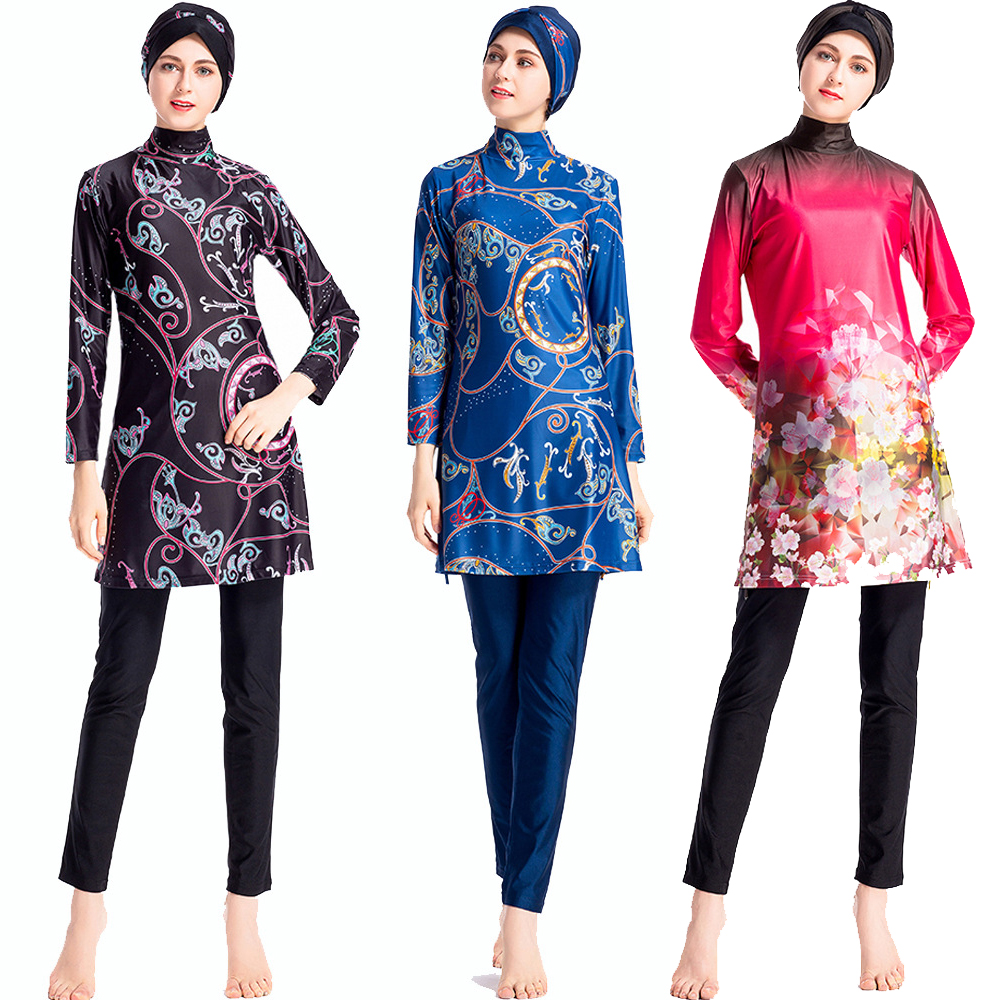 Women s Muslim Swimsuit Islamic Modest Hijab Plus Size Wear Swimming Bathing Suit Beach Full Coverage