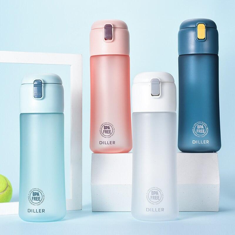 Tritan Water Bottle Eco Friendly One Click Open Scrub Summer Women Sports Plastic Kettle Portable Protein Shaker Bottle Men|Water Bottles| |  - AliExpress