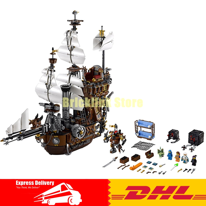 Free Shipping 2791PCS LEPIN 16002 Pirate Ship Metal Beard's Sea Cow Model Building Kits Blocks Bricks Toys Compatible With 70810 lepin 16002 pirate ship metal beard s sea cow model building kit block 2791pcs bricks compatible with legoe caribbean 70810