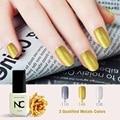Art Salon Tips Metalic Fingernails Golden Colors Soak off Organic UV LED Nail Gel Varnish Smalto Gel Glitter Matte Varn Nailsgel