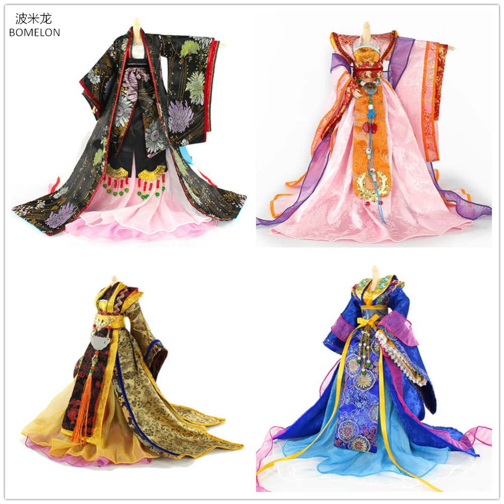 Handmade Chinese Ancient Costume Doll Clothes Tang Dynasty Womens Doll Clothing for 30CM Bjd 1/6 Dolls Accessories Girl ToysHandmade Chinese Ancient Costume Doll Clothes Tang Dynasty Womens Doll Clothing for 30CM Bjd 1/6 Dolls Accessories Girl Toys