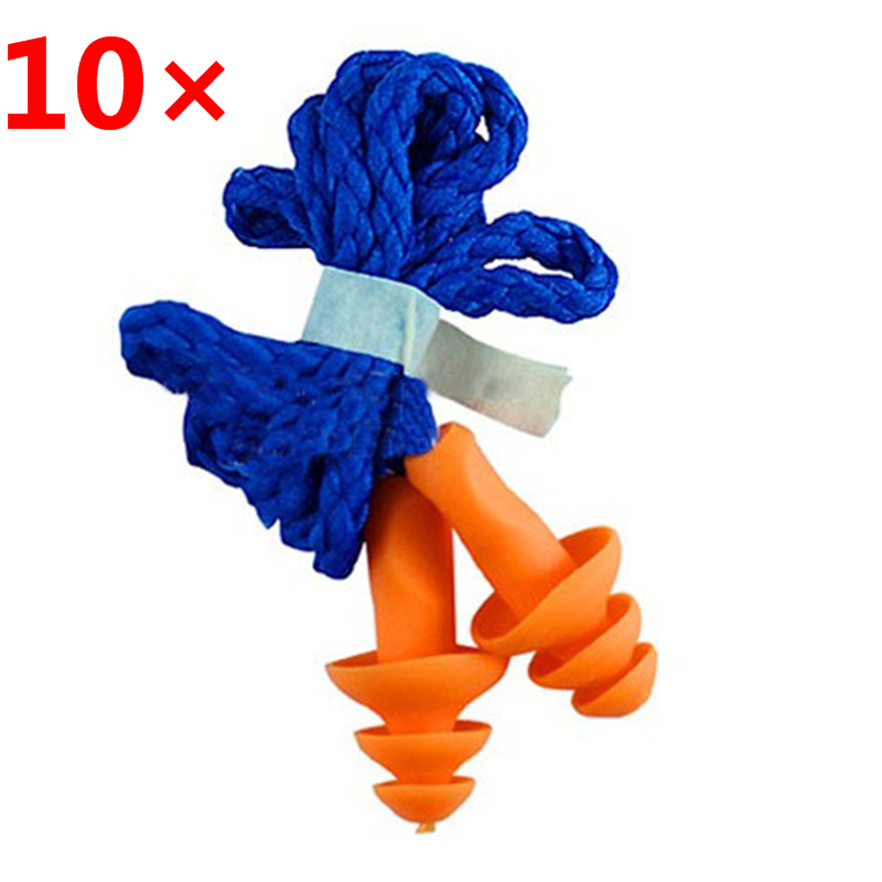 UK/_ FP 10Pcs Soft Silicone Sound Noise Reduction Ear Plugs Hearing Prot BH/_ HK