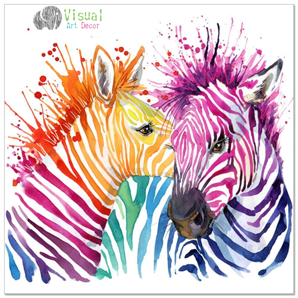 Popular zebra artwork buy cheap zebra artwork lots from for Where to buy canvas art