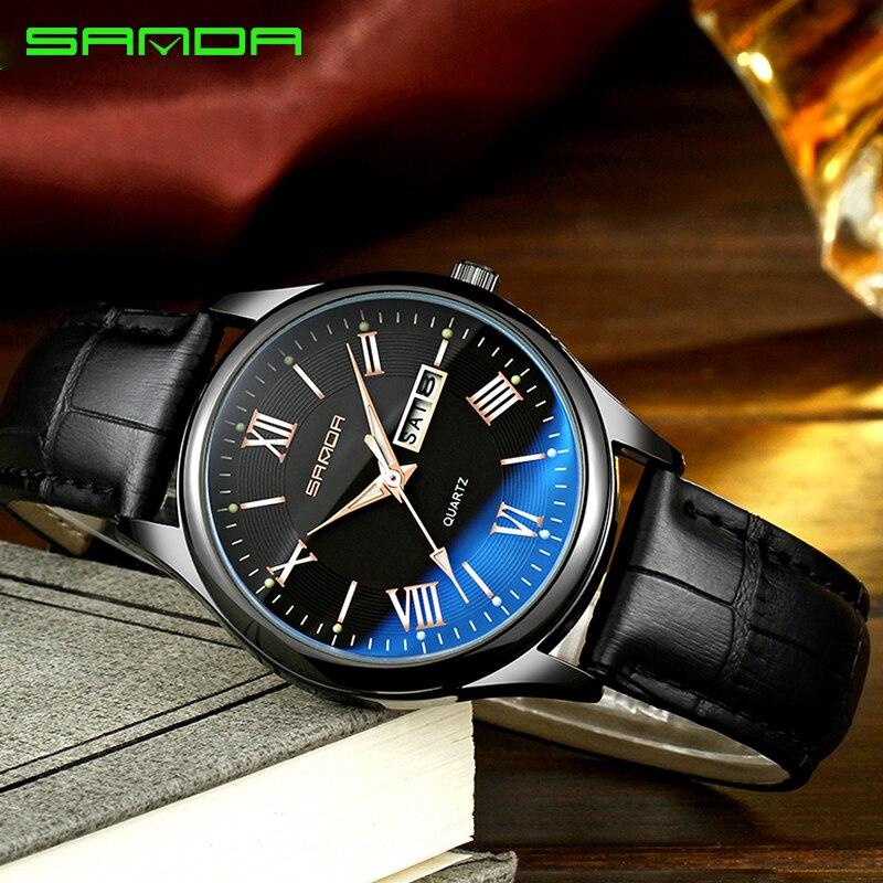 c010926e70a SANDA Negócio Relógio de Quartzo Dos Homens Relógios Top Marca de Luxo Famoso  Relógio Masculino Relogio
