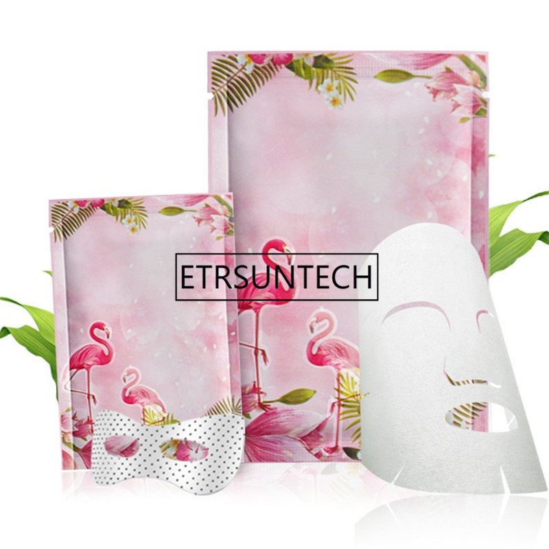 1000pcs Pink Flamingo Color Aluminum Foil Heat Seal Bag Cosmetic Food Coffee Tea Candy Packaging Bags
