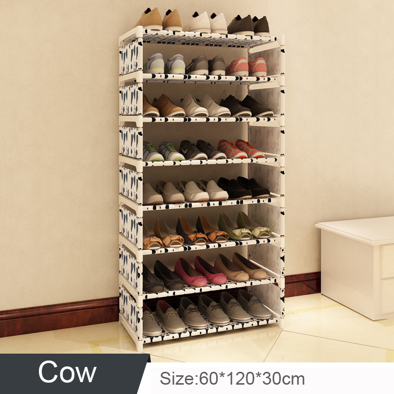 Home Furniture Kind-Hearted 8 Layers Stands For Shoes Multi-layer Assembly Storage Shoe Rack Minimalist Dustproof Shoe Rack Easy Assemble Stainless Steel Pp To Ensure A Like-New Appearance Indefinably Living Room Furniture