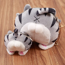 New Cat Butt Tail Coin Purses Fashion Change Purse Bag Master Designer Women Chain Big Money Bags For Funny Gift(China)