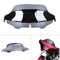 Chrome Motorbike 8 Windshield Windscreen Wind Air Deflector For Harley Electra Glide FLHT FLHX Touring Motorcycle