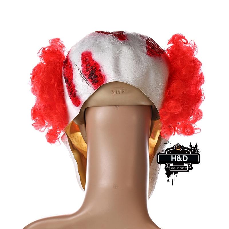 H & D punase nina klouni mask Circus hirmutav tapja halloween õudus - Pühad ja peod - Foto 4