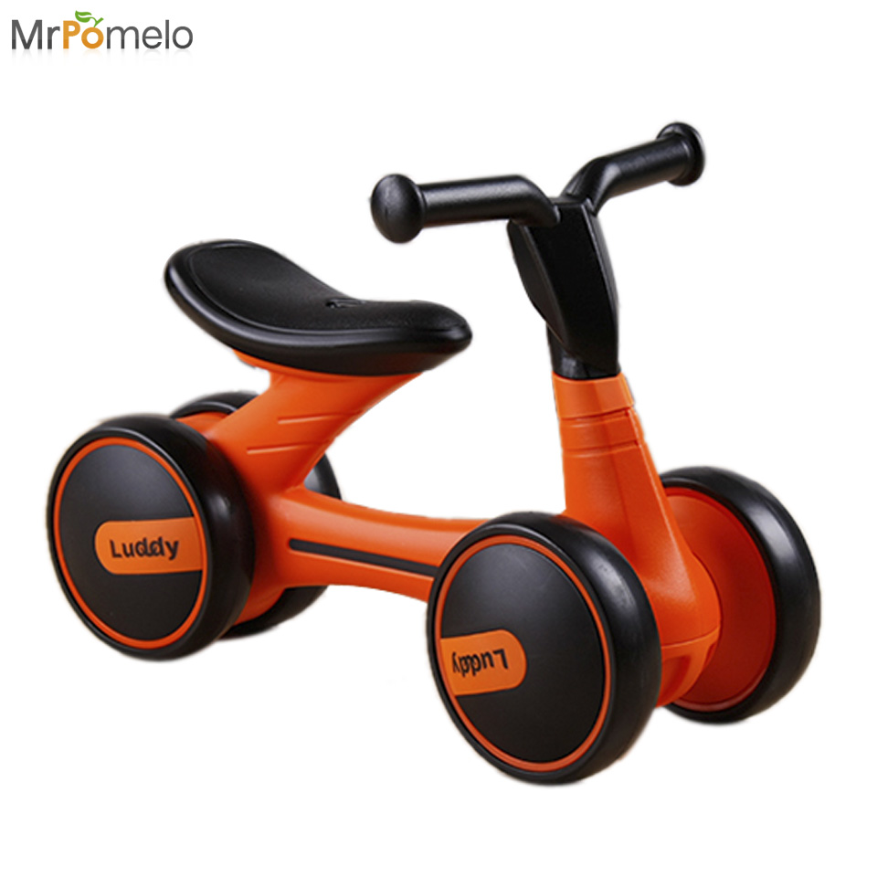 92938bd8196 MrPomelo Baby Walker Four Wheel Balance Bike kids Scooter Tricycle Ride On  Toys Infant Scooter No Foot Pedal Driving Bikes