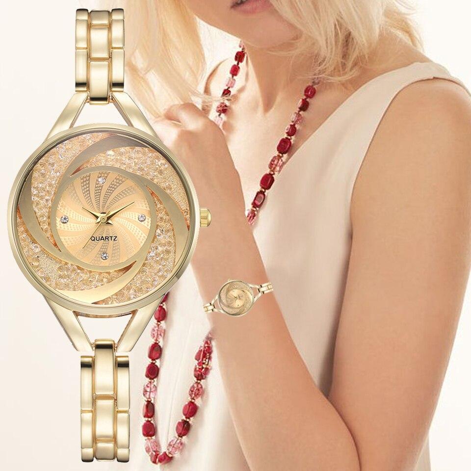 Luxury Women Watches With Rhinestone Bling Diamond Wristwatch Fashion Dress Watch Ladies Clock Relogio Feminino XR3175