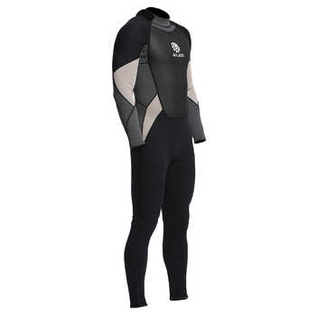 Men\'s One-Piece Full body Neoprene Wetsuit 3mm Back Zip Scuba Dive Wetsuit Swimming Surfing Diving Snorkeling Suit Jumpsuit