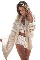 Стиль: лето 2016 г. кафтан Beach Ribbed Knit Shawl Cardigan кимоно крючком пляжная Защита от Солнца защиты Топ сексуальные пляжной платье 41531