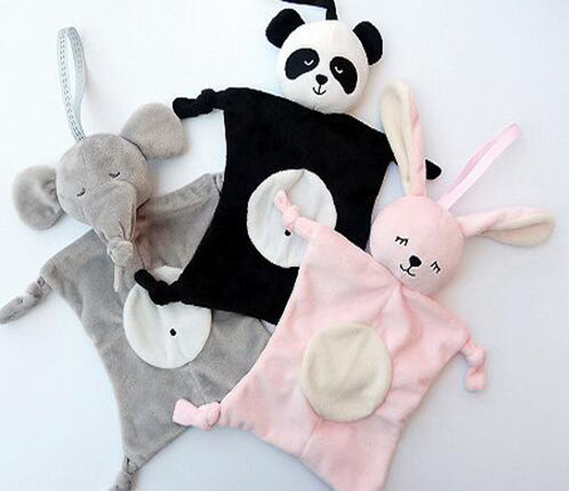 Babies Plush Soothing Toys Security Blanket Baby Toys Soothing Towel For Baby Care Animal Shape Newborns Blankie Soothing Towels