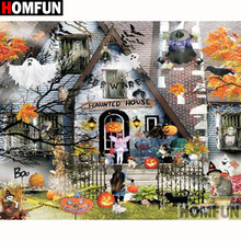 HOMFUN Full Square/Round Drill 5D DIY Diamond Painting House landscape Embroidery Cross Stitch 5D Home Decor Gift A18092 homfun full square round drill 5d diy diamond painting house landscape embroidery cross stitch 5d home decor gift a18092