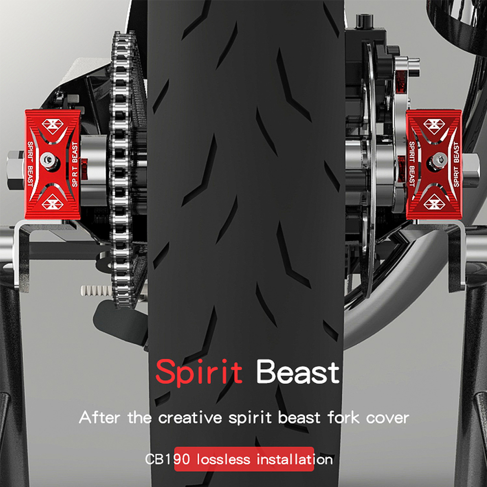 SPIRIT BEAST Motorcycle Rear Fork Cover Kit Accessories Sliders Crash Protector For Honda CB190 CBF190R Yamaha R3 Suzuki GW250