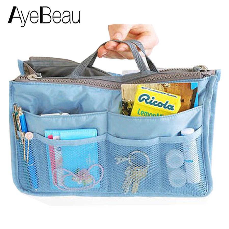 Beautician Toiletry Necessaire Women Neceser Travel Handbag Vanity Make Up Makeup Cosmetic Bag Beauty Case Purse Organizer Pouch