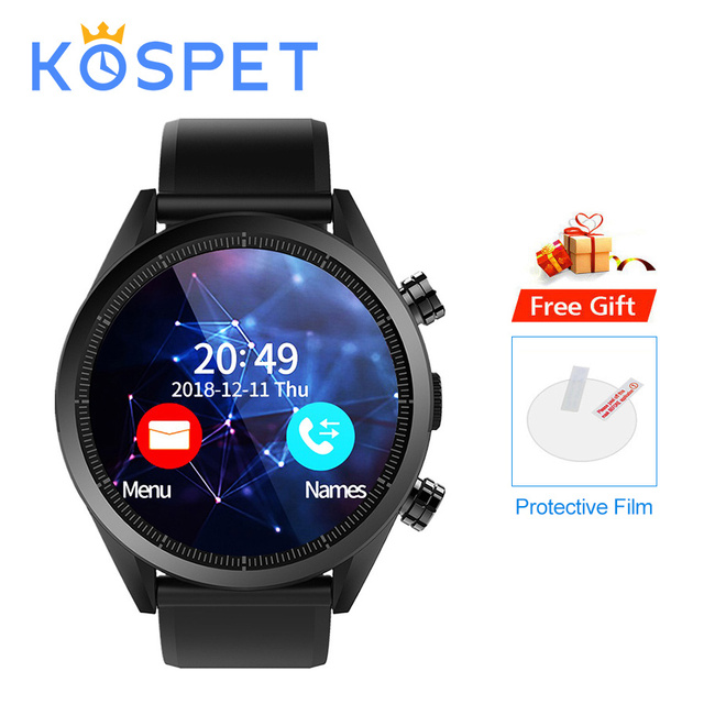 """KOSPET Hope 4G Bluetooth Android 7.1.1 1.39"""" Touch Screen 3GB+32GB IP67 Waterproof MT6739 Camera GPS Business Smart Watch Phone"""