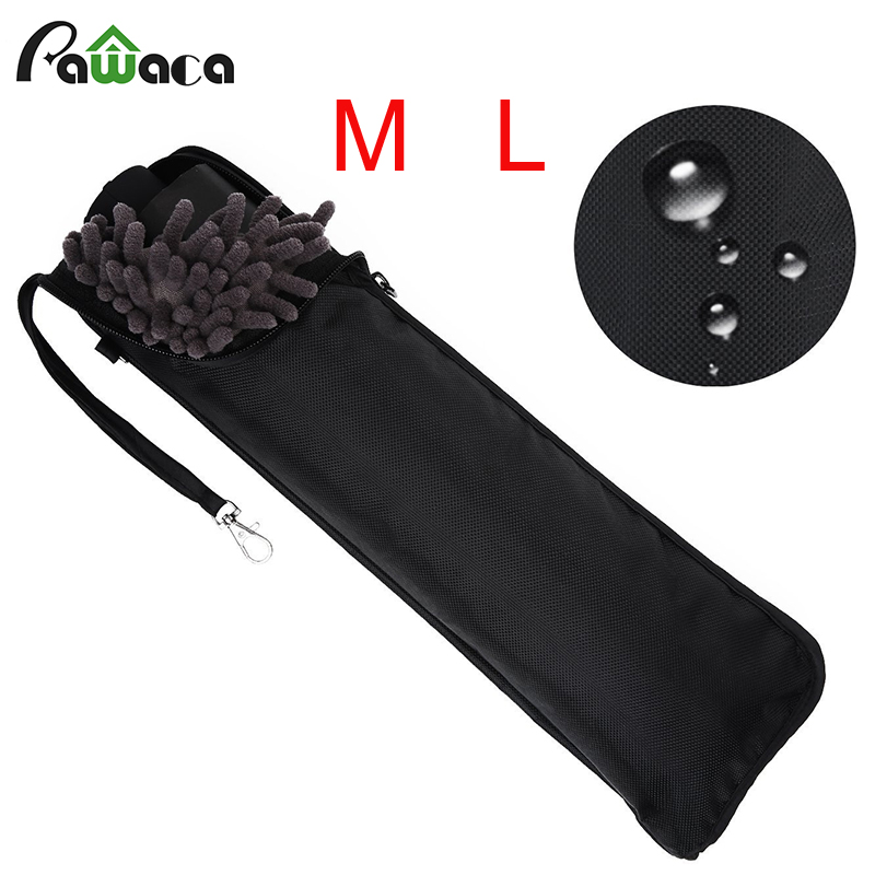 Medium Black Superfine fibers storage bags for Automatic Umbrella Portable Cleaning Cloth Umbrella Covers Bag travel Accessories