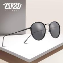 20/20 Brand Unisex Sunglasses Men Polarized Vintage Round Retro Sun Glasses for Women Steel Metal Eyewear Gafas 17078