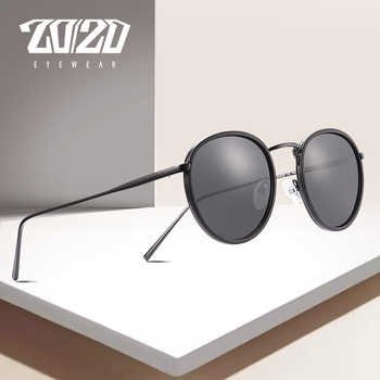 20/20 Brand Unisex Sunglasses Men Polarized Vintage Round Retro Sun Glasses for Women Steel Metal Eyewear Gafas 17078 - DISCOUNT ITEM  45% OFF All Category