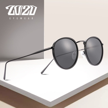 Gafas de sol Unisex marca 20/20 Gafas de sol polarizadas Vintage redondas Retro lentes de sol para dama Gafas de Metal de acero 17078