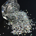 2g/ Bottle Laser Silver Color Nail Glitter Decorations Mini Round Thin Sequins Chrome Effect Shining Designs Y019
