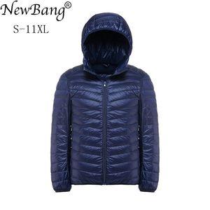 Image 1 - NewBang Plus 11XL 10XL 9XL 8XL Down Coat Male Ultra Light Down Jacket Men Windbreaker Feather Lightweigt Hooded Winter Parka