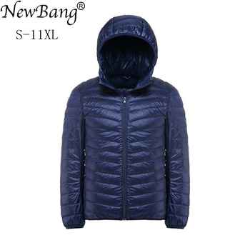 NewBang Plus 11XL 10XL 9XL 8XL Down Coat Male Ultra Light Down Jacket Men Windbreaker Feather Lightweigt Hooded Winter Parka - DISCOUNT ITEM  53% OFF All Category