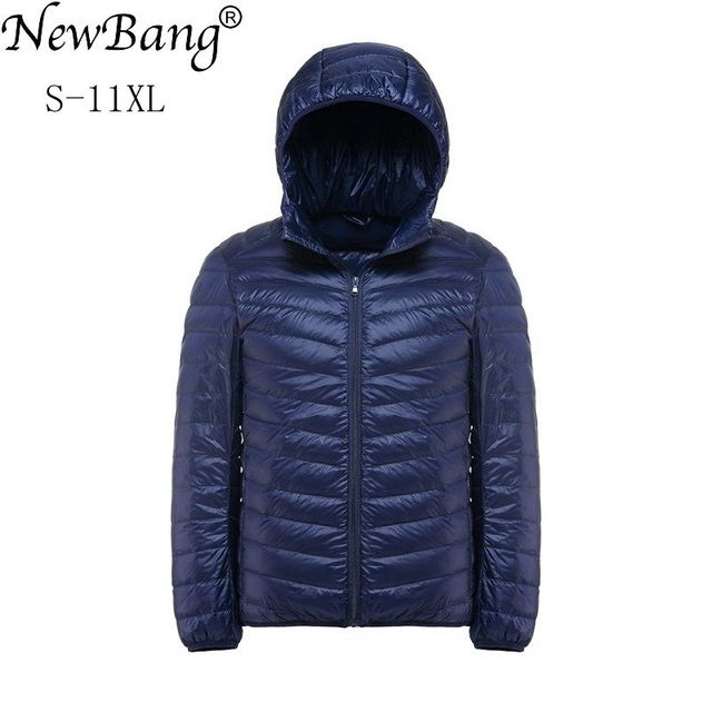 NewBang Plus 11XL 10XL 9XL 8XL Down Coat Male Ultra Light Down Jacket Men Windbreaker Feather Lightweigt Hooded Winter Parka