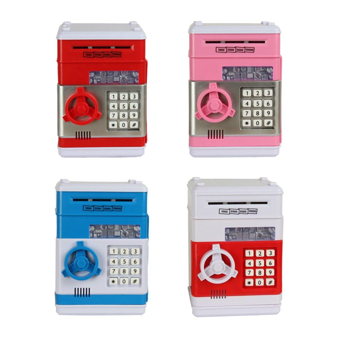 Dépôt automatique billet de banque cadeau pour enfants ATM mot de passe tirelire électronique tirelire pièces de monnaie économisant