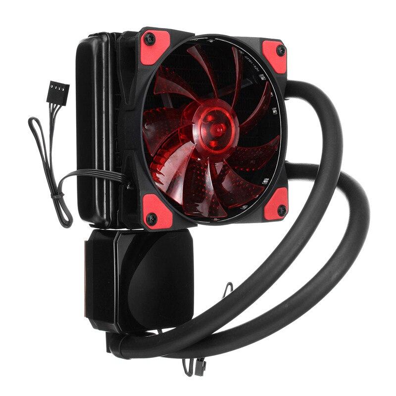 Aluminium 4 broches ventilateur CPU refroidisseur 120mm 12 V 800-1800 tr/min refroidisseur d'eau refroidissement radiateur ventilateur dissipateur de chaleur pour PC boîtier CPU refroidisseur silencieux