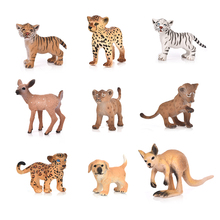 Hot 20 Style Zoo Simulation Tiger Dog Elephant Deer Plastic Forest Wild Animals Toys Figurine Home Decor Gift For Kids недорого
