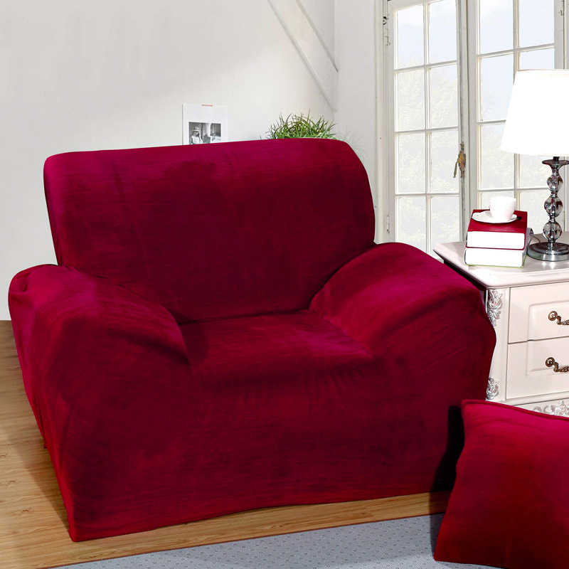 detail feedback questions about wine red sofa cover plus velvet rh aliexpress com ikea klippan red sofa cover red sofa throw covers