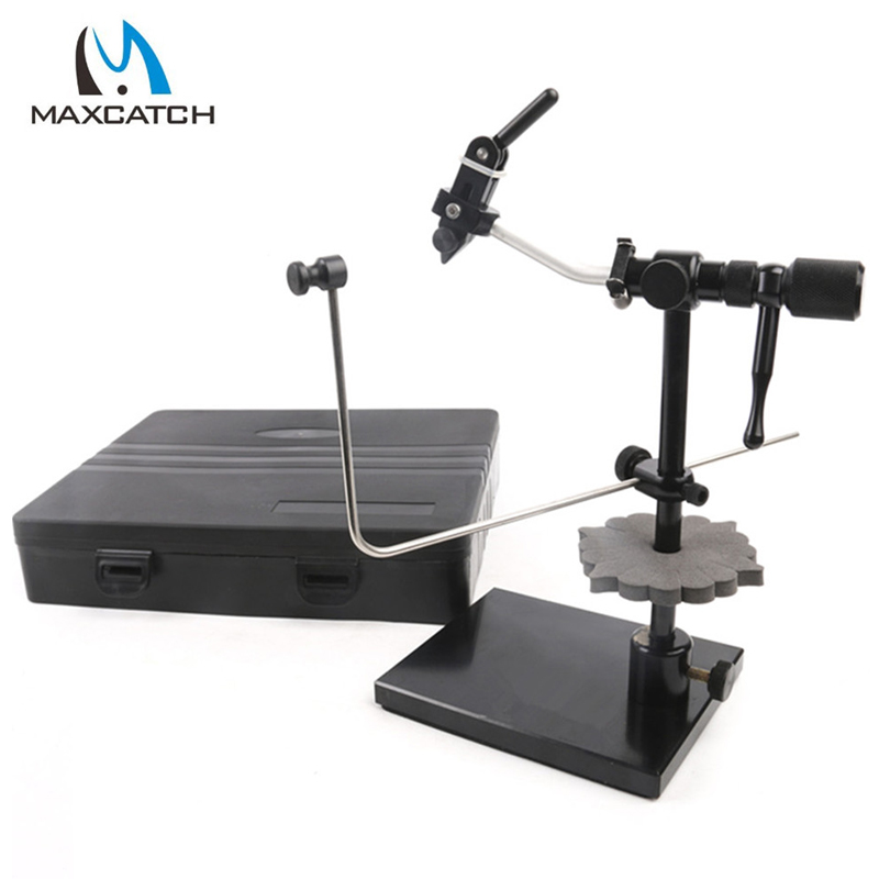 New Iron Rotary Fly Tying Vise With Heavy Duty Base Fly Hook Tool Fly Fishing Tackle Accesories Pesca 1 pcs fly tying hook device fly fishing hook vise in stock clamp style fly fishing fly tying vise