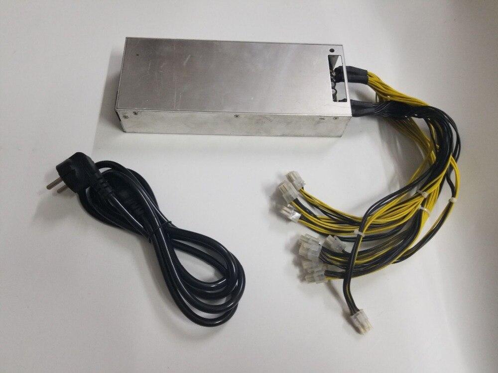 YUNHUI utilizado BTC LTC DASH minero PSU 176-264 V 12 V 150A MAX salida 1800 W fuente de alimentación para hormigón S7 S9 S9i L3 + D3 A3 Z9 Baikal N