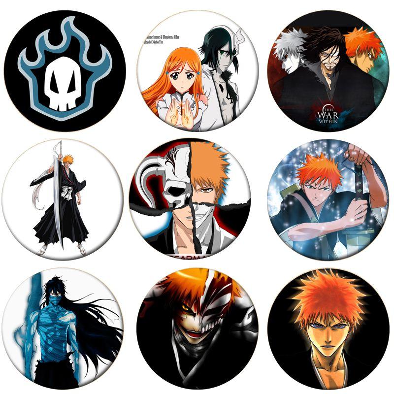 1pcs Anime Bleach Cosplay Badge Kurosaki Ichigo Brooch Pin Hitsugaya Toushirou Cute Collection Badge For Backpack Clothes