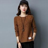 2018 sweater female short Korean version loose loose knitting Jersey, spring and autumn women's wear top sweater.