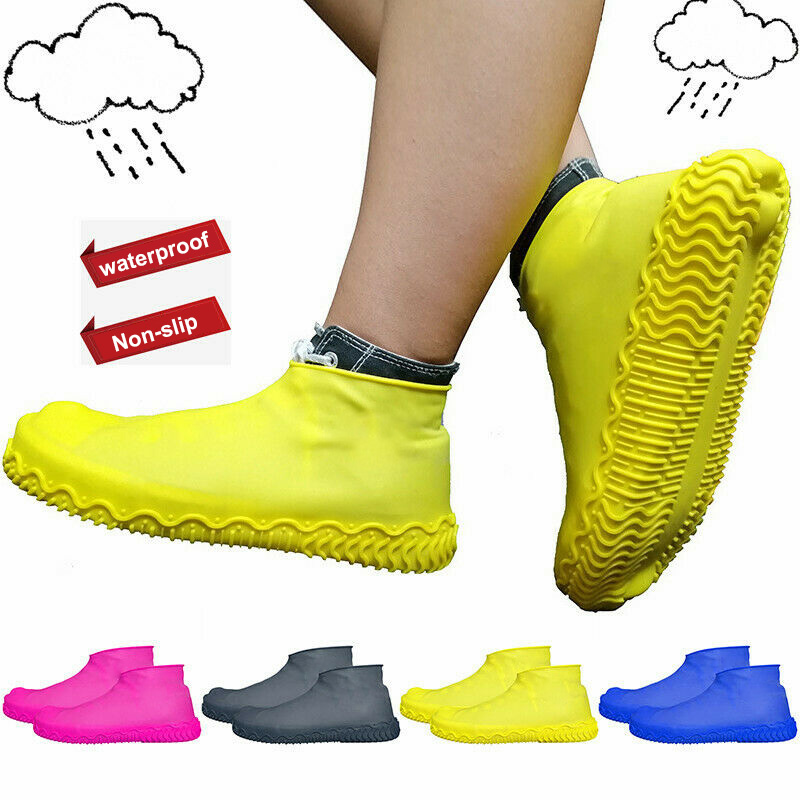 1 Pair Outdoor Wading And Upstream Shoes Reusable Latex Shoe Covers Anti-slip Fishing Shoes Waterproof Rain Boot Overshoes