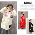Teenage Girls Casual Children Parka Winter Coat Duck Down Long Section letter K Thick Hooded Kids Jacket For Girls Outerwear