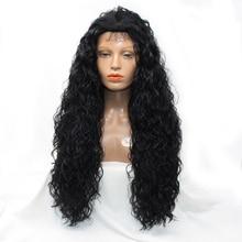Dlme 30 inch странный вьющиеся Glueless Синтетические волосы спереди Кружева Парики с волосами младенца отбеленные узлы 20-30 дюймов 180 плотность не путать