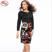 2017 autumn women evening party dress designer dress sexy black office dresses vestidos cheap clothes china 605
