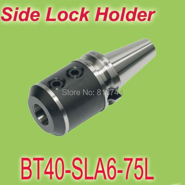 ФОТО BT40 SLA6 75mmL Side Lock Type Clamping  6mm Weldon shank End Mills Holder Working on CNC Milling Machine  Free Shipping