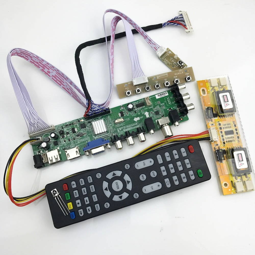 D3663LUA digital TV bord DVB-T2/T/C Universal LCD LED TV Controller Driver Board mit kabel inverter unterstützung russische 366348