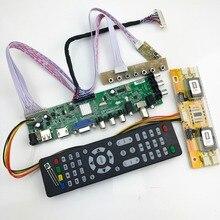 Placa universal do motorista do controlador da tevê do diodo emissor de luz do lcd da placa DVB T2/t/c da tevê de d3663lua digital com inversor do cabo