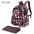 Colorland 4 Colors 3 Layers Design Waterproof Baby Diaper / Food Zipper Radiating Breathable Comfortable Mummy Backpack